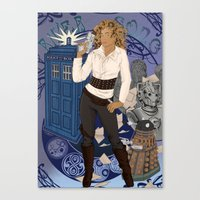 river song Canvas Prints featuring River Song by Saintash