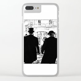 Men out of their Time Clear iPhone Case