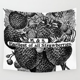 Earliest of all Strawberries 1899 Wall Tapestry