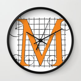 M from Serlio Wall Clock