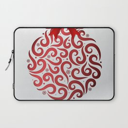 Decorative Christmas Ornament Pattern Laptop Sleeve