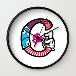 initial G Wall Clock