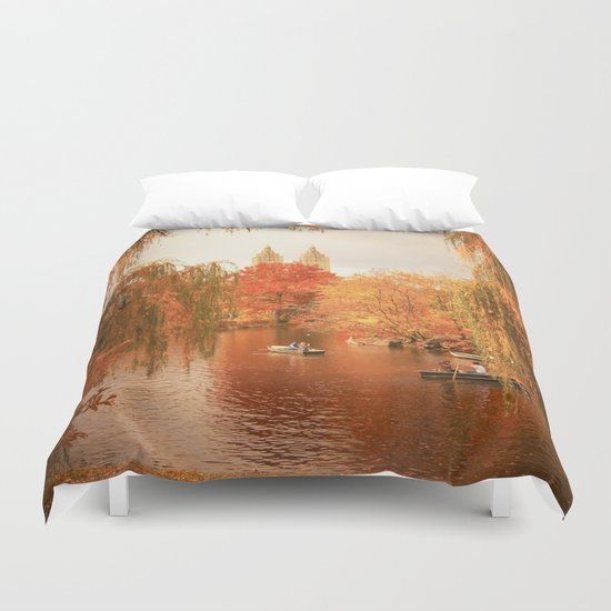 Central Park New York City Autumn Duvet Cover