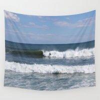 surfer Wall Tapestries featuring Surfer by moonstarsunnj