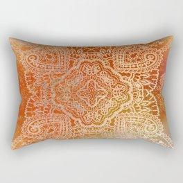 paisley star in hot hues Rectangular Pillow
