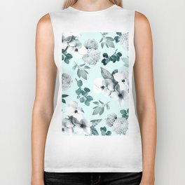 Night bloom - moonlit mint Biker Tank