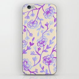Watercolor Peonies - Peach Violet iPhone Skin