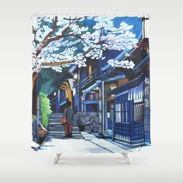 Under the Cherry Blossoms, Spring Shower Curtain