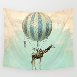 Sticking your neck out, giraffe Wall Tapestry