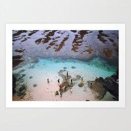 indonesian ocean Art Print