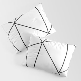 Geometric White Pillow Sham