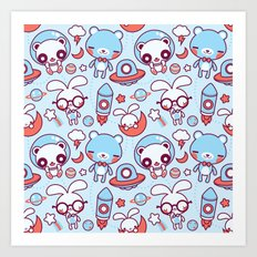 Kawaii Pattern  Art Print