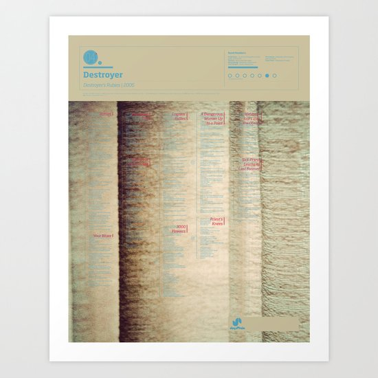 The Visual Mixtape 2010 | Destroyer's Rubies | 04 / 25 Art Print