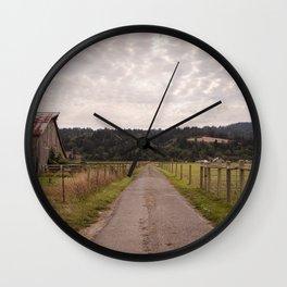 Farm Road Wall Clock