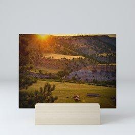 Sunset on the Black Hills Mini Art Print