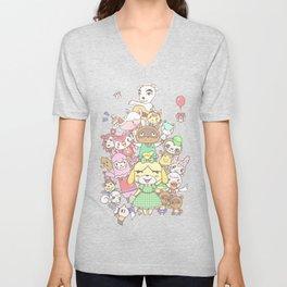 Animal Crossing (pink) Unisex V-Neck