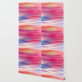 pink abstract with horizontal stripes Wallpaper