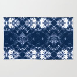 Shibori Tie Dye 1 Indigo Blue Rug