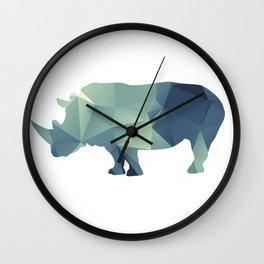 Rihno - blue geomatric Wall Clock