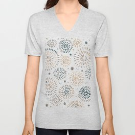 Abstract watercolor sparkles – neutral Unisex V-Neck