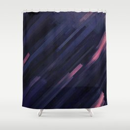 Glitched v.8 Shower Curtain
