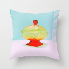 Vintage Candy Dish Throw Pillow