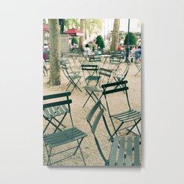 Bryant Park Chairs Metal Print