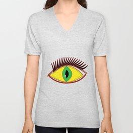 Creepy Eyes Unisex V-Neck