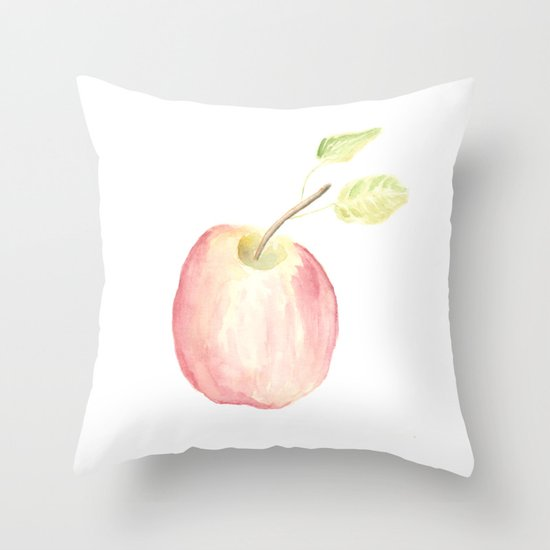 Honey Crisp Apple Throw Pillow