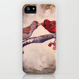 Kissing Cardinals iPhone Case