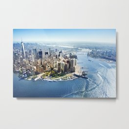 Aerial view of New York City Metal Print