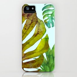 Prepared Monstera iPhone Case