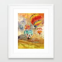 balloons Framed Art Prints featuring Balloons by takmaj