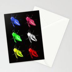 Neon insects Stationery Cards
