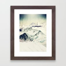 Flight Over Yatsugate Framed Art Print