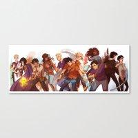 viria Canvas Prints featuring heroes of olympus by viria