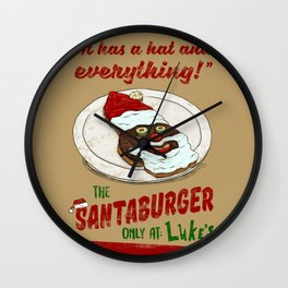 Santa Burger Wall Clock