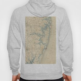 Vintage Map of Ocean City Maryland (1900) Hoody