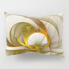 Fractal Art Precious Metals, Abstract Graphic Pillow Sham