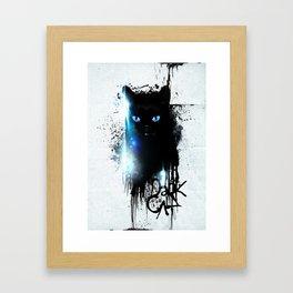 Dark Cat Framed Art Print