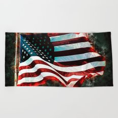 Abstract USA Flag Beach Towel