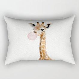 Bubble Gum Baby Giraffe Rectangular Pillow