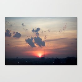 Detroit Sunset 1  Canvas Print