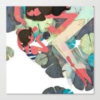 pisces Canvas Prints featuring Pisces by Leonard Peng