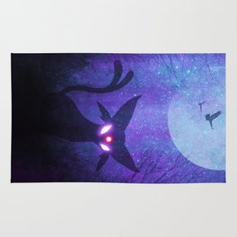 Espeon Space Silhouette Rug