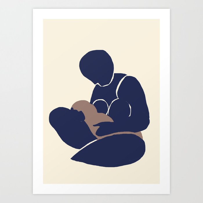 Mother and Child III (After Matisse) Art Print