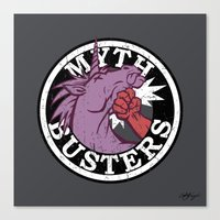 ghost busters Canvas Prints featuring Myth Busters by Emily Kuznia