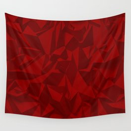 Red Relief Wall Tapestry