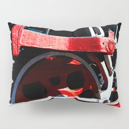 Mechanical Abstract Of A Driving Gear Of An Ancient Steam Engine Locomotive Pillow Sham