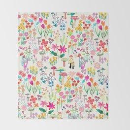 The Odd Floral Garden I Throw Blanket